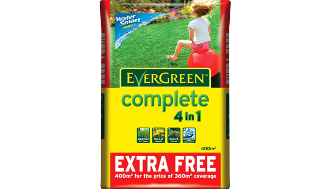 Evergreen 4 in 1 Moss and Weed Killer from Scotts Miracle-Gro