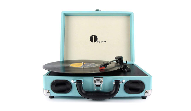 1byone S-OUK00-0750 Turquoise Turntable