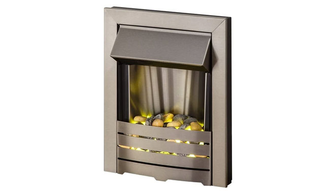 Adam Helios Brushed Steel Inset Electric Fire