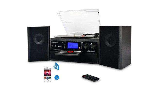 DIGITNOW! M504 Bluetooth Vinyl Record Player
