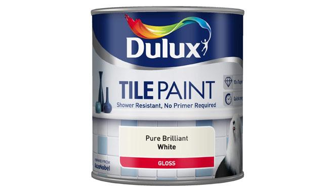 Dulux Brilliant White Tile Paint