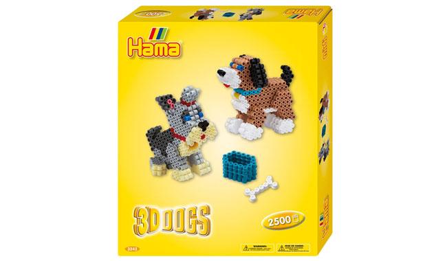 Hama Beads 3D Dogs