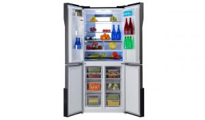 Hoover HFDN 180BK Freestanding American Fridge Freezer