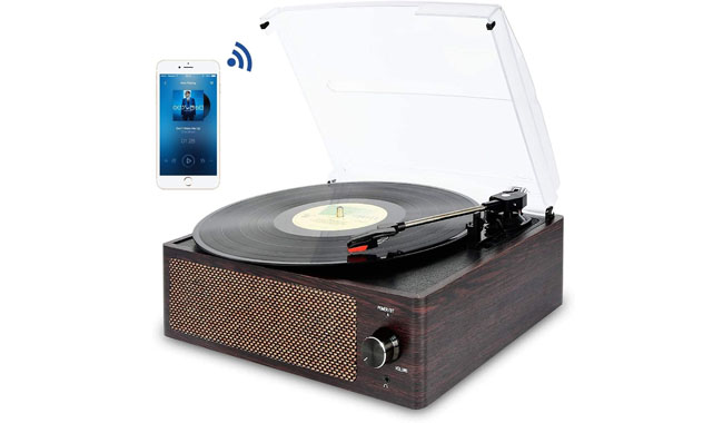 Mersoco M49Brown-UK Bluetooth Record Player