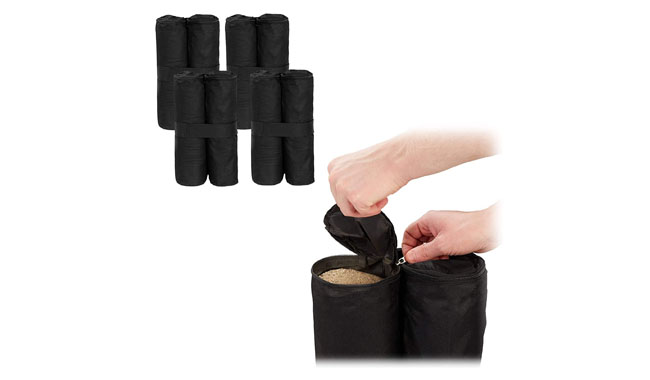 Relaxdays Black Gazebo Weight Bags