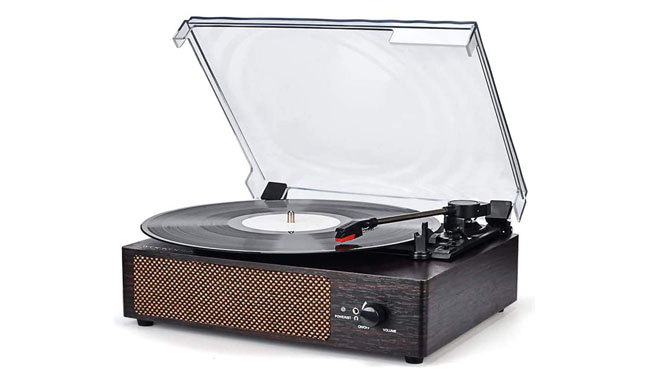 WOCKODER KD-2008BL Portable Wireless Turntable