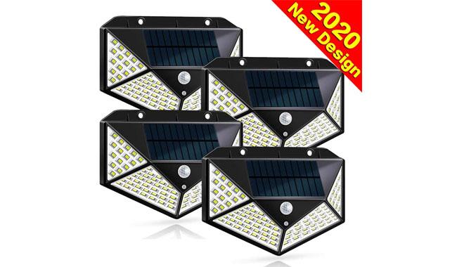 Dekugaa 100 LED Solar Motion Sensor Wall Light