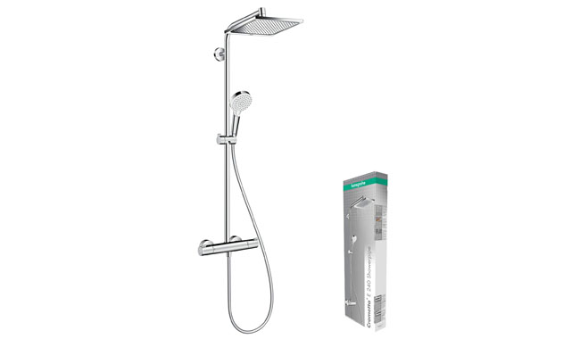 Hansgrohe Crometta E Jet Shower with Thermostatic Mixer Shower