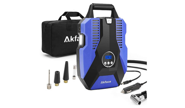 akface AK-01 DC 12V Portable Air Compressor