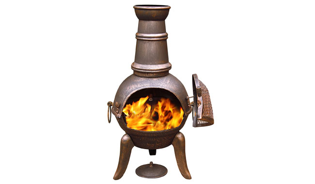 Gardeco 90cm Granada Cast Iron Chiminea