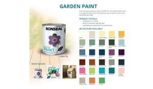Ronseal Garden Paint 20+ Colours 2.5 Litre